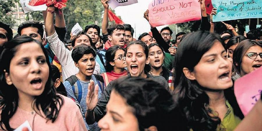 Spiralling protests at JNU over a proposed hostel fee hike had hit classes.