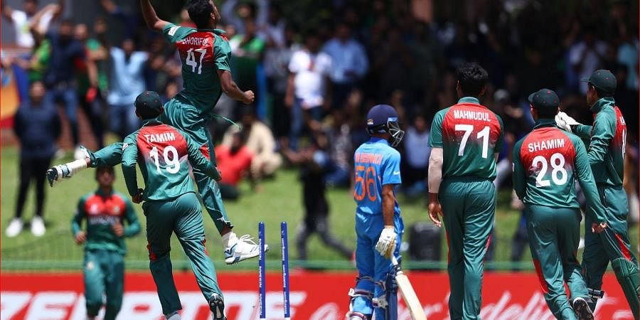 As soon as the match ended, it became tense with Bangladeshi players rushing to the ground and display aggressive body language.