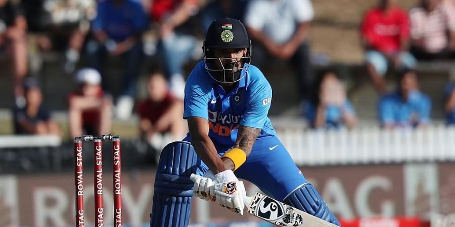 KL Rahul bats during the first One Day International cricket match between New Zealand and India at Seddon Park in Hamilton. (Photo   AP)