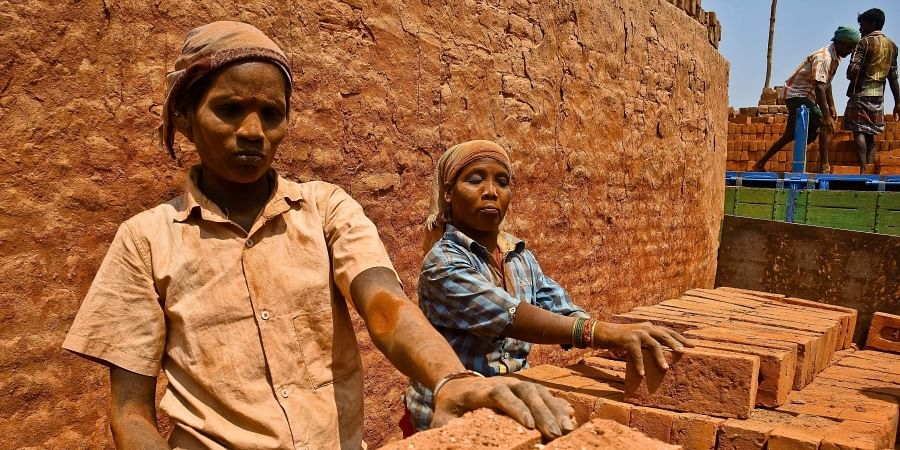 File photo of bonded labourers at a brick kiln in Poonamallee
