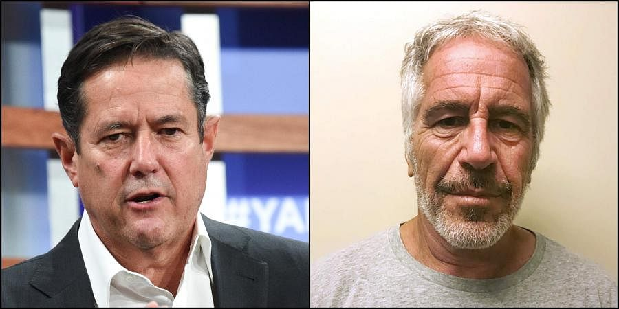 (Left) Barclays CEO Jes Staley and (right) late convicted sex offender Jeffrey Epstein (Photos | AP)
