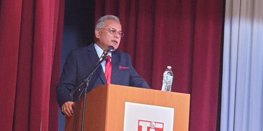 Chhattisgarh CM Bhupesh Baghel addressing investors at San Francisco in US
