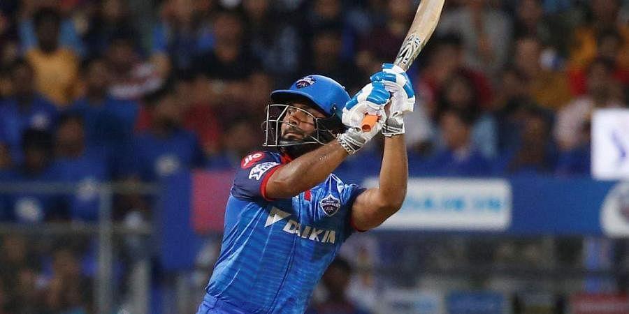 Delhi Capitals Rishabh Pant bats against Mumbai Indians (Photo | AP)