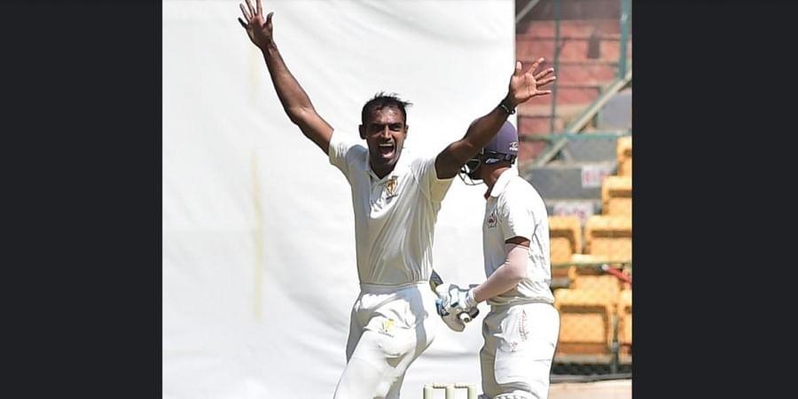 Leader of the pace unit, Mithun ran through the middle-order, dismissing Deepak Hooda, Krunal and Abhimanyu Singh in four balls.