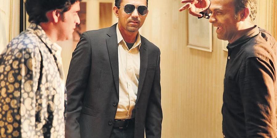 Kettavan directorNK Kandi in the sets of 'Day Knight'