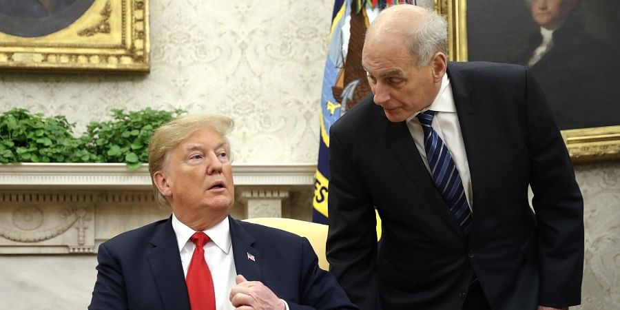 President Donald Trump with former White House chief of staff John Kelly.