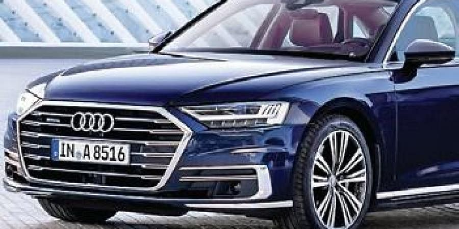 The new A8 sedan offers a rather futuristic luxury experience