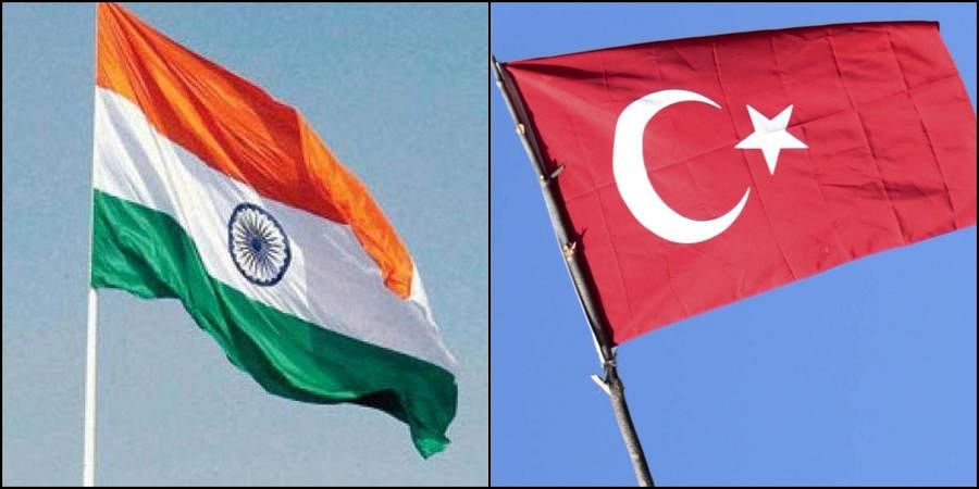 Flags of India and Turkey