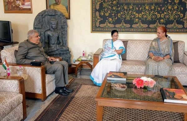 Mamata holds meeting with Bengal governor Dhankhar