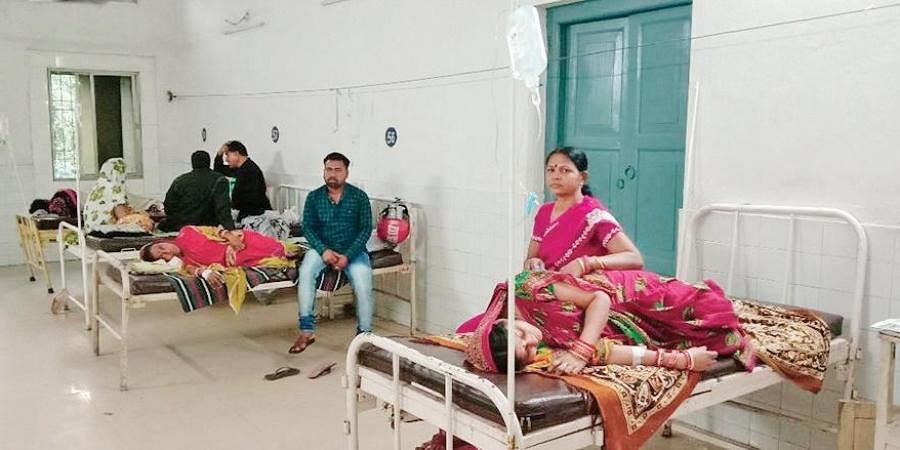 Patients undergoing treatment at City Hospital in Cuttack.
