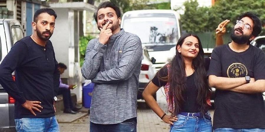 City comedians Rupen Paul, Suhas Navarathna, Arnika Jain and Arnav Rao will be performing at the festival. (Photo |Pandarinath B, EPS)