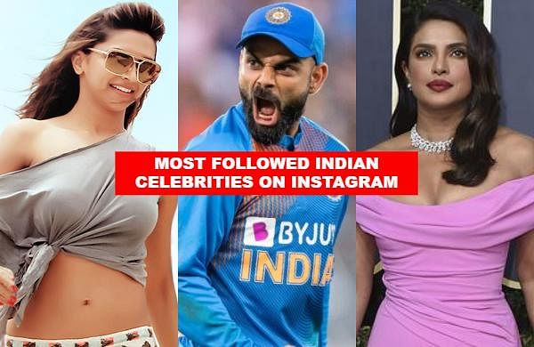 Virat Kohli has become the first person from India to reach the 50 million followers mark on social media platform Instagram. Check out the top 11 celebrities with the most Instagram followers from India.