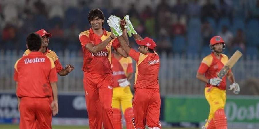 Players in action during Pakistan Super League.