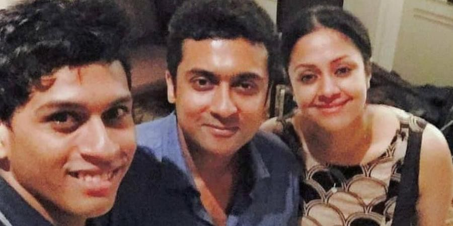 Suriya took to Instagram to share an adorable photograph of himself with Jyothika.