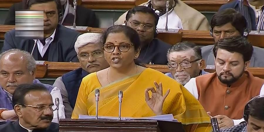 Finance Minister Nirmala Sitharaman presents the Union Budget 2020-21 in the Lok Sabha