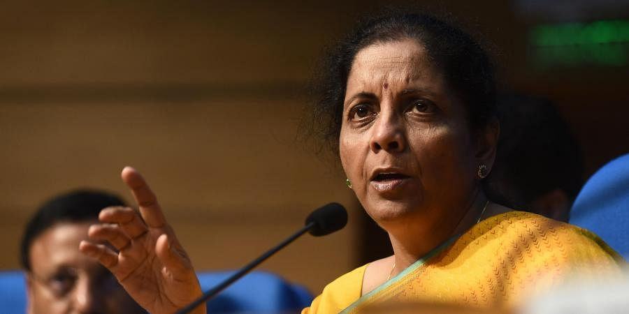 Finance Minister Nirmala Sitharaman during the post-budget press conference in New Delhi