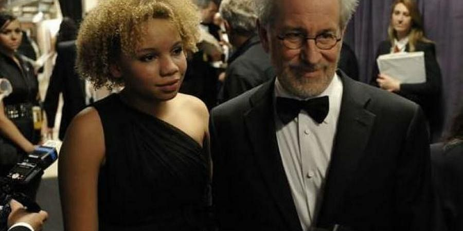 Steven Spielberg with daughter Mikaela.