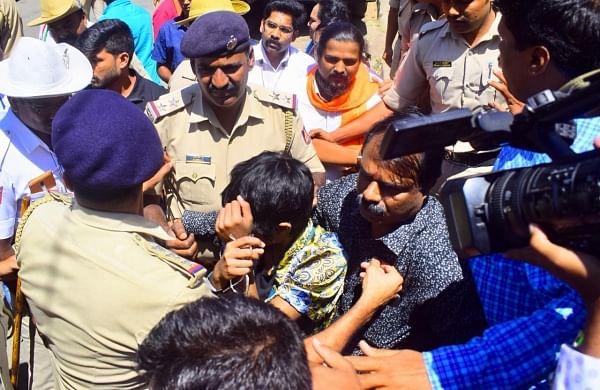 Woman detained in Bengaluru for holding 'Kashmir Mukti, Dalit Mukti'placard