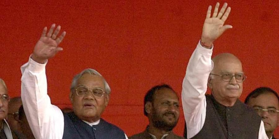Former PM Atal Bihari Vajpayee with then Home Minister LKAdvani