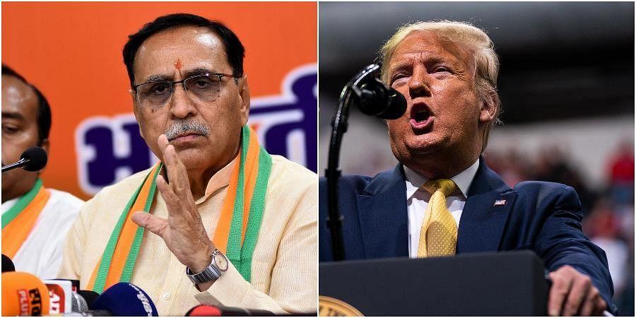 GujaratCMVijay Rupani (L) and US President Donald Trump