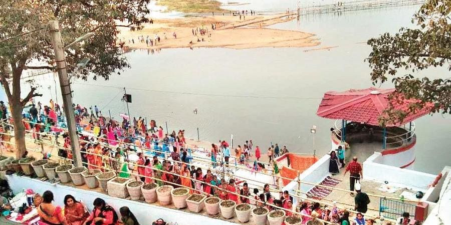 Devotees at Vedvyas in Rourkela on the occasion of Shivratri on Friday.