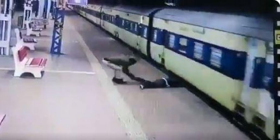 CCTV footage of the platform showed Ghosh getting dragged by the train and stairs of coaches hitting him on his head and legs.
