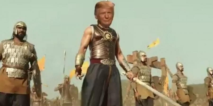 The morphed baahubali video featuring Trump