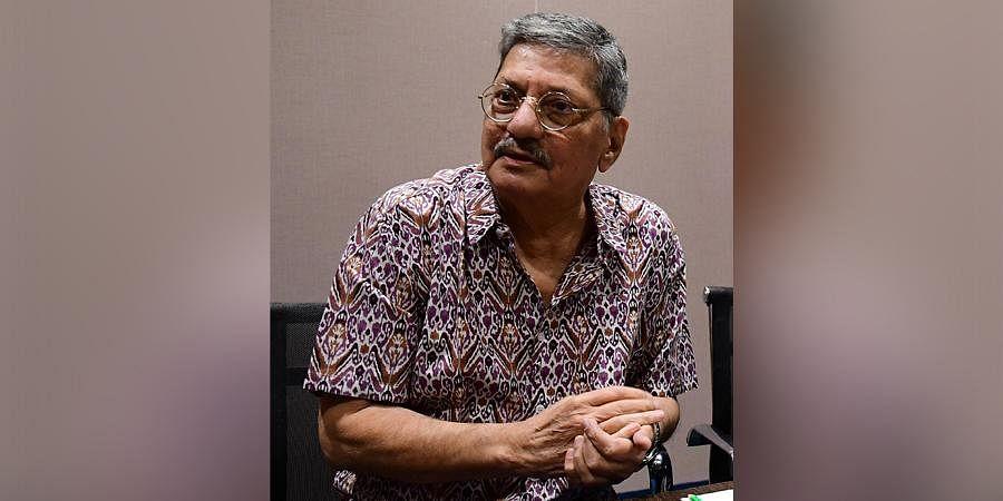 Veteran actor-director Amol Palekar at a press meet in Bengaluru