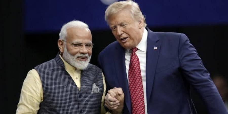 PM Narendra Modi with US President Donald Trump
