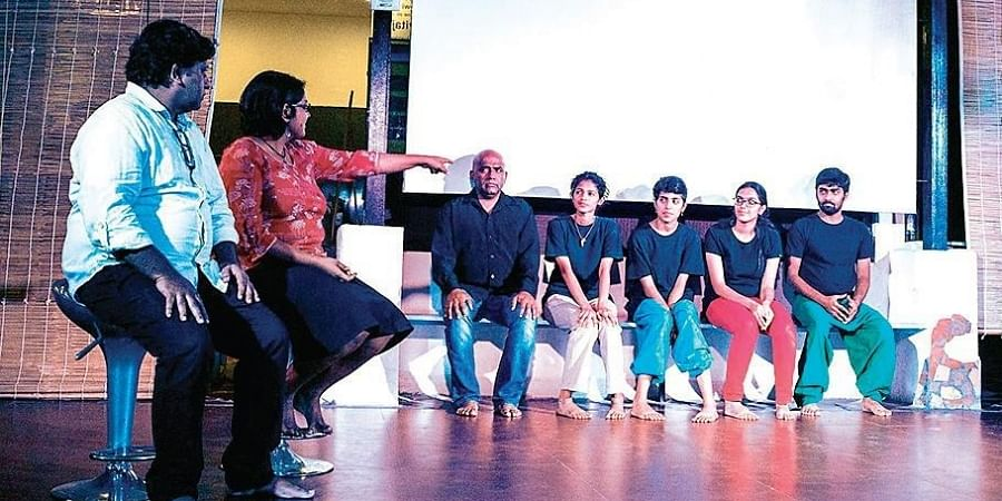 The Actors' Collective, led by Rajesh P I is a 'new-old' group. Rajesh has been practising this form since it started in a big way in India in 2000.