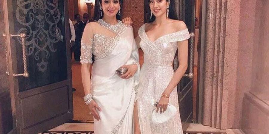 Late Bollywood actress Sridevi with daughter and actress Janhvi Kapoor.