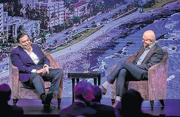 Microsoft-Reliance tie-up to define decade, says Mukesh Ambani to Satya Nadella
