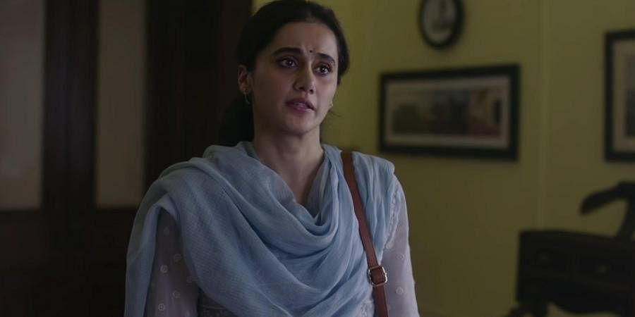 Bollywood star Taapsee Pannu in a scene from 'Thappad'.