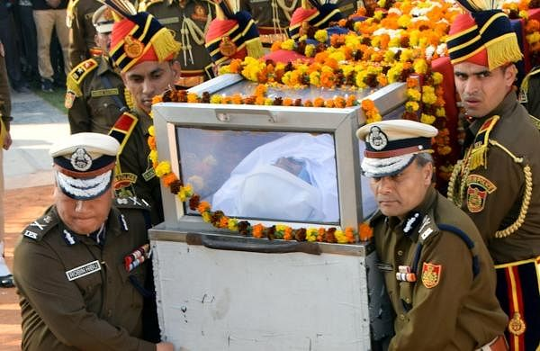 Delhi violence: Slain constable Ratan Lal cremated with full state honours in Rajasthan's Sikar