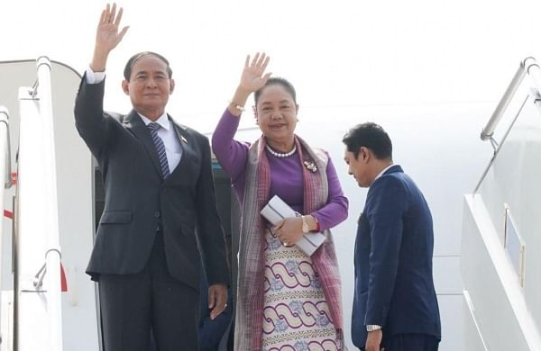 Myanmar President U Win Myint arrives in India, to hold talks with top leadership to strengthen ties