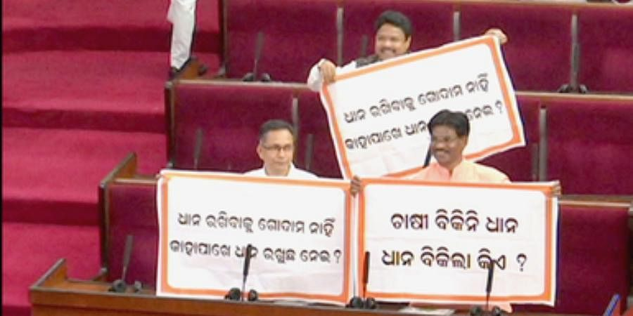Opposition MLAs created ruckus over irregularities in paddy procurement in several Government-run mandis
