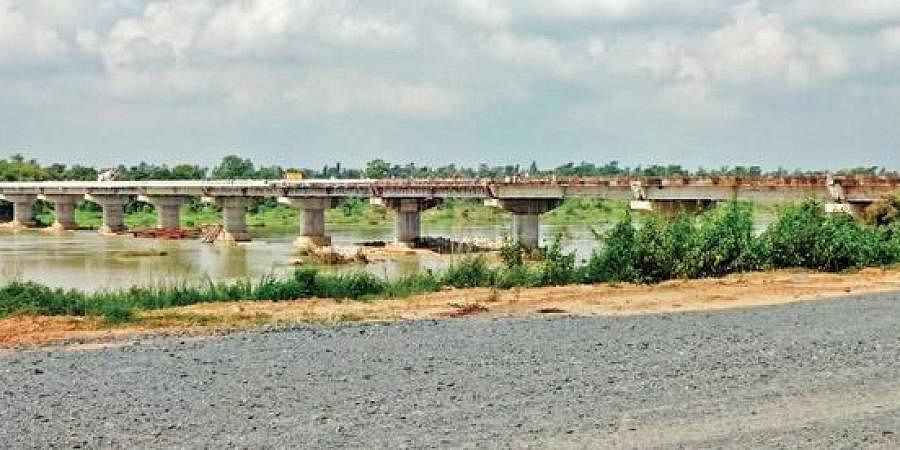 The bridge to connect Kud Gunderpur to the mainland awaits inauguration