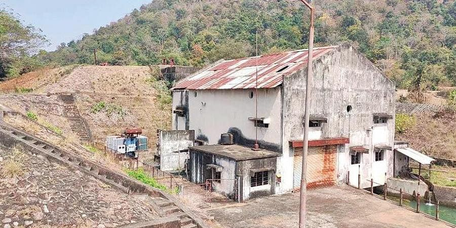 The defunct Gompakonda mini power house