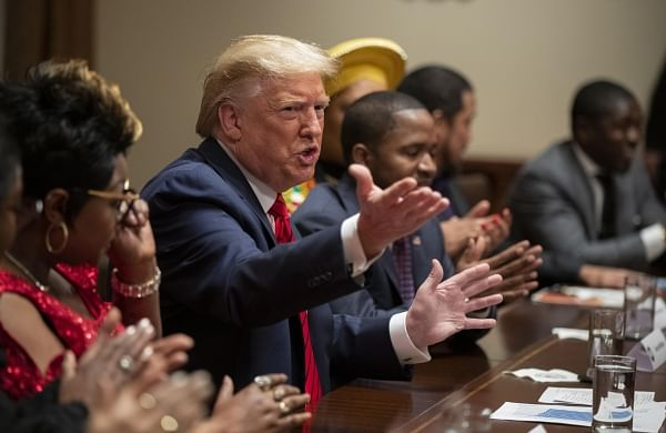 President Donald Trump meets with black supporters, vows equal opportunity