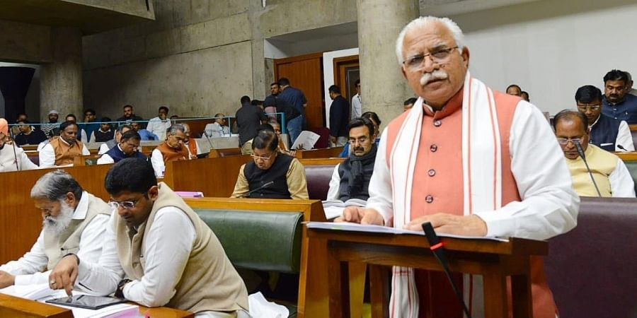 Haryana CM Manohar Lal Khatar presents the state Budget for 2020-21