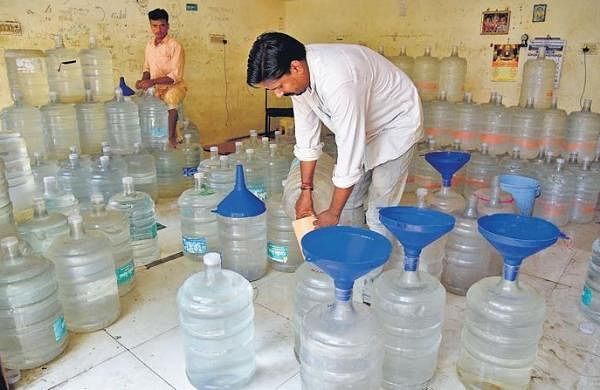 Panic buying as packaged water units go on strike