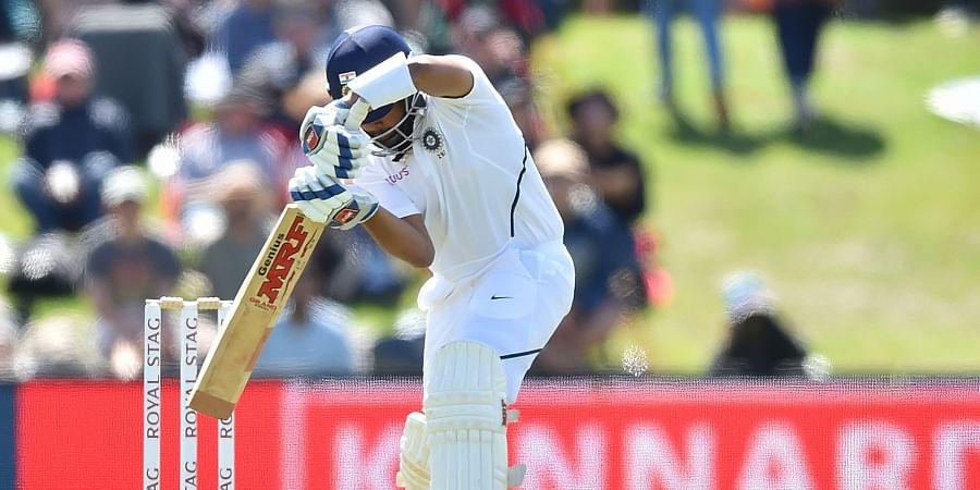 India's Prithvi Shaw bats on day one of the second Test cricket match between New Zealand and India at the Hagley Oval in Christchurch on February 29, 2020.