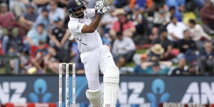 India's Hanuma Vihari plays at the ball while batting during play on day one. (Photo | AP)