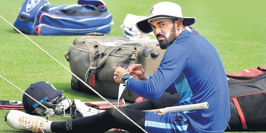 Karnataka's KL Rahul takes a breather on the eve of the semifinal clash against Bengal in Kolkata on Friday.
