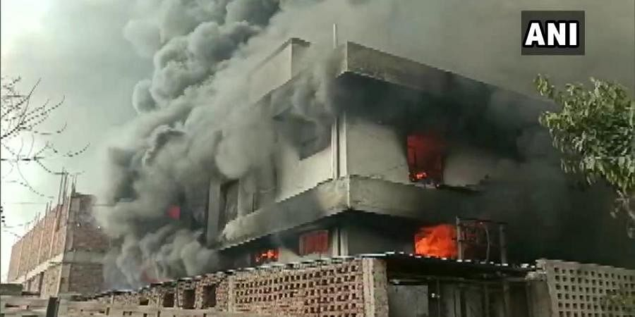 Fire broke out due to an explosion in the boiler of a chemical factory in haryana's Bahadurgarh industrial area