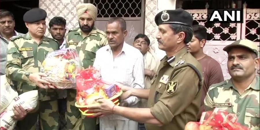 A BSF team visited the house of constable Mohammad Anees, whose house in Khajuri Khas area was set on fire