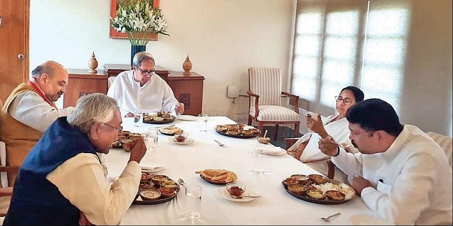 While there was no official word on what the leaders spoke during the meal, the picture of Shah and Mamata sharing a lunch set the political circles abuzz.