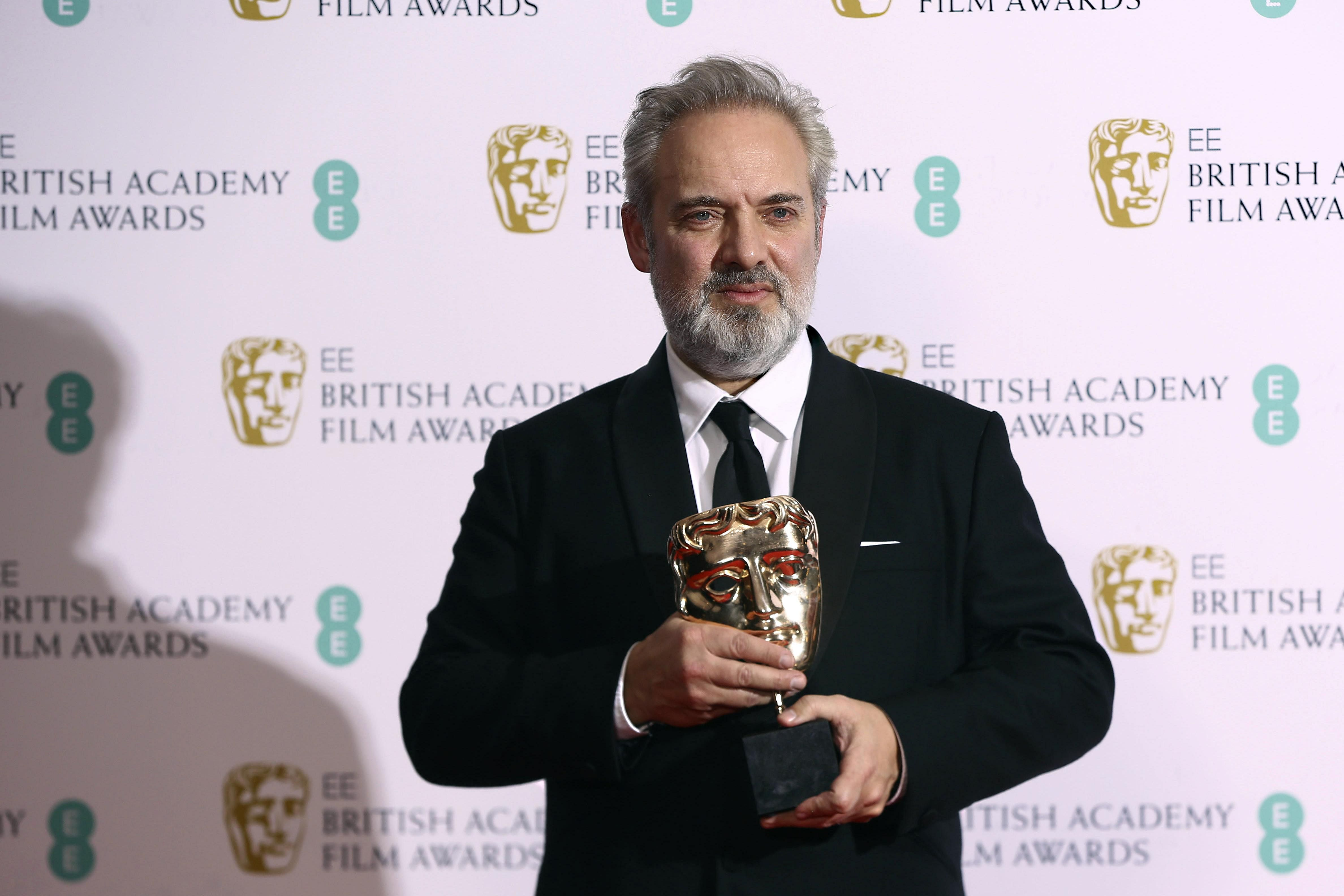 Director Sam Mendes won the 'Best Director' award for '1917' at the BAFTA Film Awards.