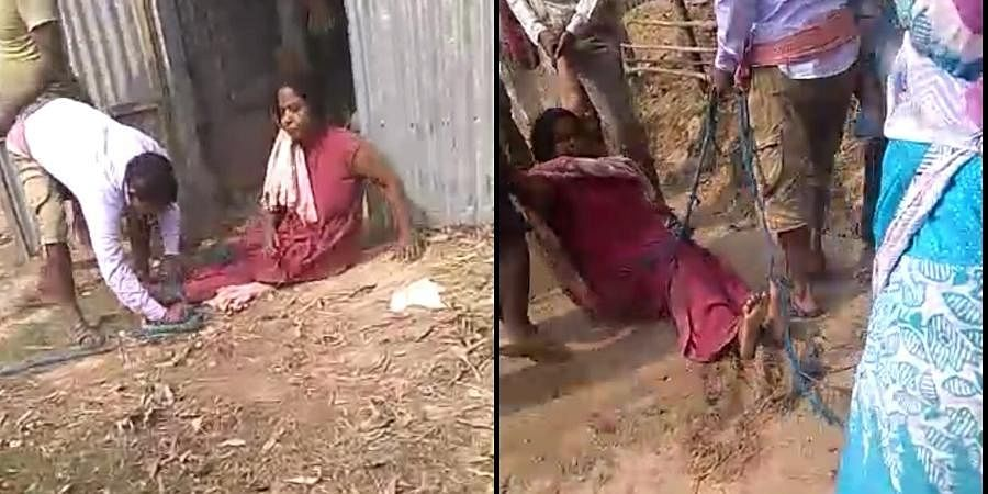 West Bengal's high school teacher thrashed by TMC supporters.