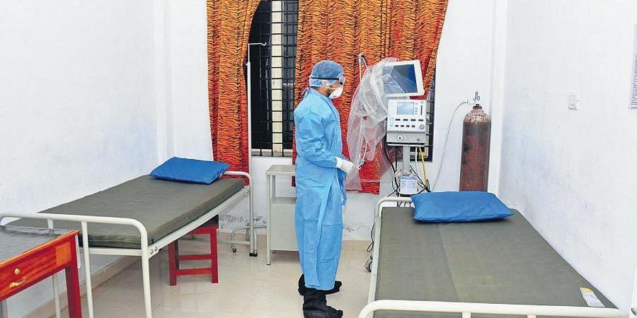 The isolation ward set up at Thrissur Medical College Hospital to accommodate coronavirus infected person | Express